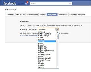 FacebookLanguage